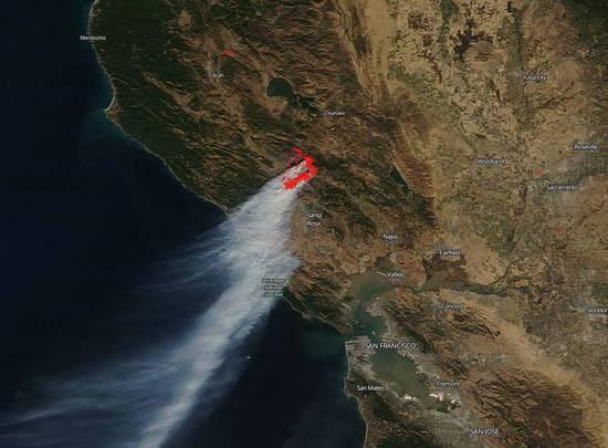 美國加州山火有多大?氣象衛星拍到地球在冒煙