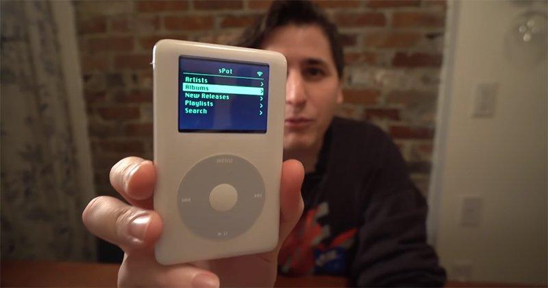 國外開發者改造高齡 17 歲的 iPod,直接連線WiFi 播放 Spotify_台中搬家公司